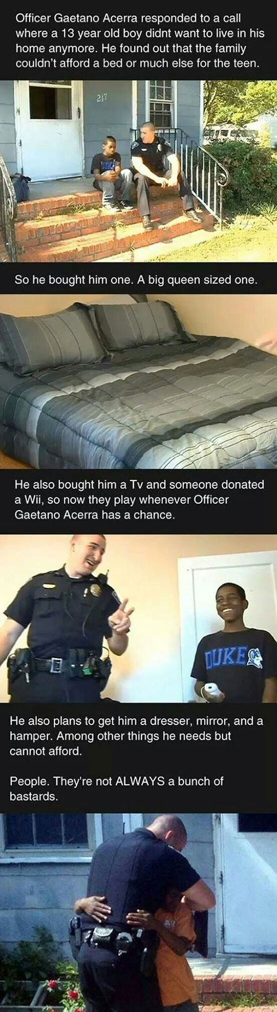 Faith In Police Officers Restored