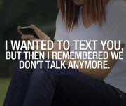 I wanted to text you
